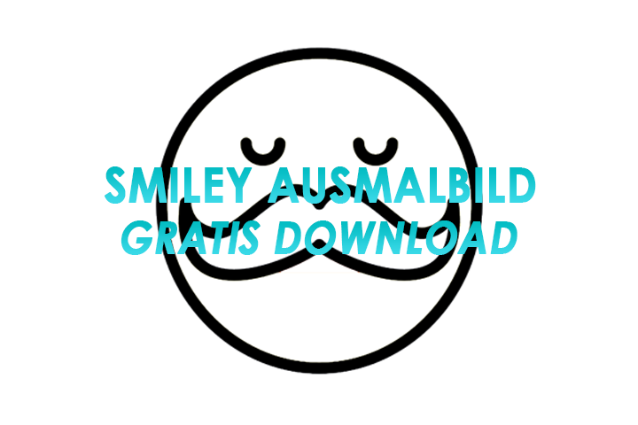 Smiley ausmalvorlage - Gratis